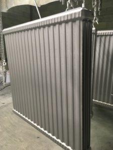 radiateur acier panneau RAL 9006